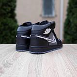 Женские кроссовки в стиле Jordan 1 Retro High Dior черные, фото 9