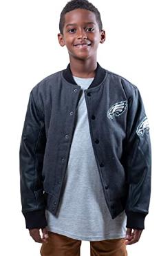 Куртка Ultra Game NFL Boys Classic Baseball Jacket - Heather Charcoal 19 (8 -9 лет)