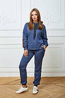 Женский костюм Woman Fashion А-185 синий (р 44-54)