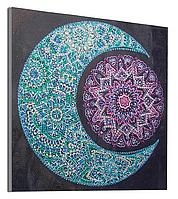 """Алмазная мозаика со специальными стразами . Набор алмазной вышивки """"Луна"""". Размер 30*30 см."""