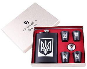 Подарочный набор с Гербом (фляга, лейка и стопки) 270 мл   TZ-27