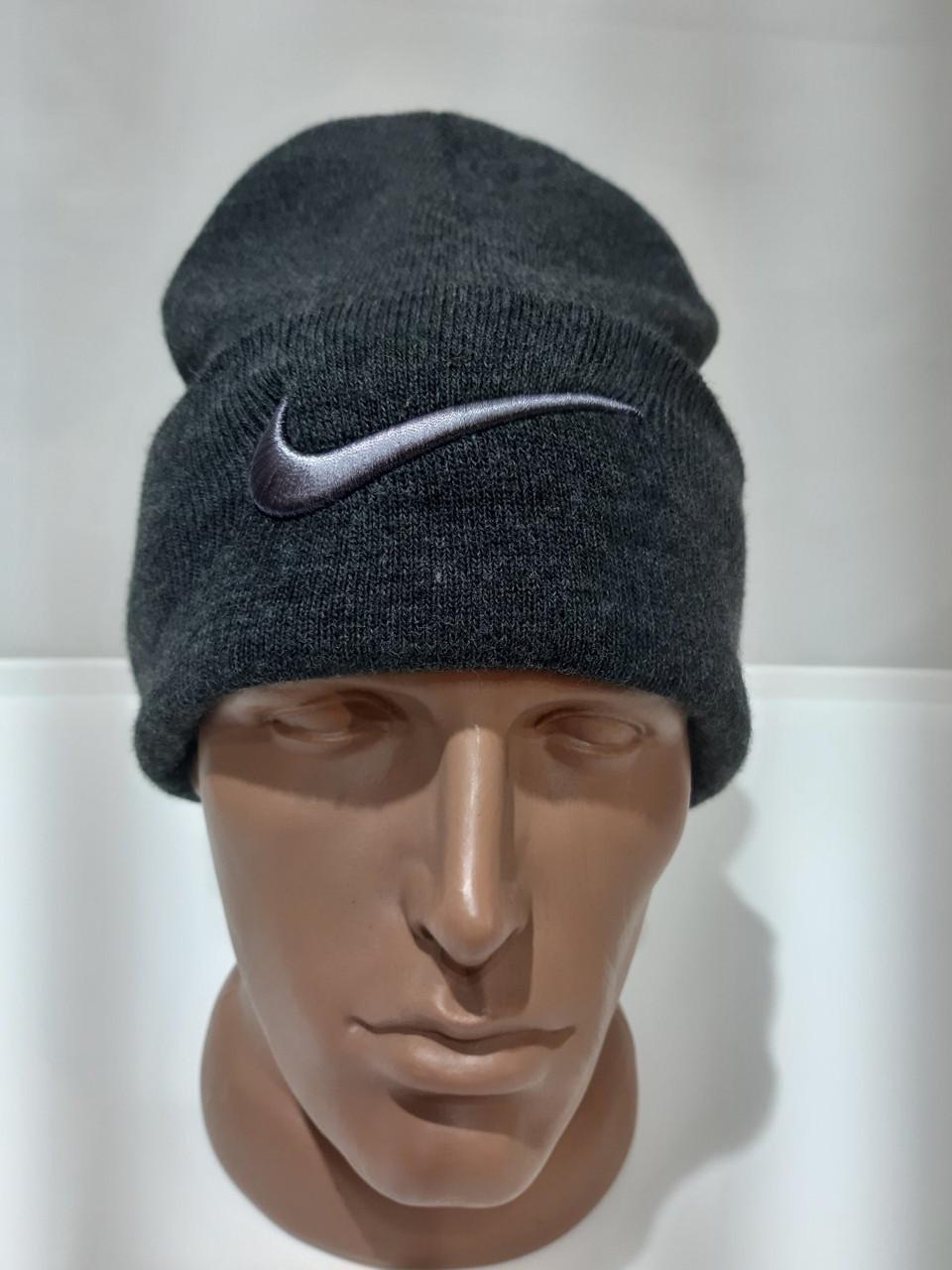 Зимова тепла чоловіча вовняна шапка Туреччина Темно-сіра