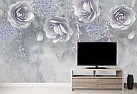 Фотообои Фиолетовые цветы 3D розы