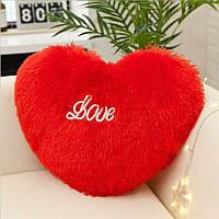 Подушка в виде сердца, декоративная, разные цвета