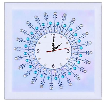 """Алмазная мозаика со специальными стразами . Набор алмазной вышивки """"Часы"""". Размер 35*35 см., фото 3"""