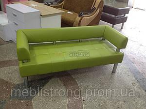 Диван для офиса Стронг (MebliSTRONG) - оливковый матовый цвет