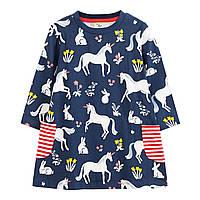 Платье для девочки Единорог и зайчик Jumping Meters (6 лет)