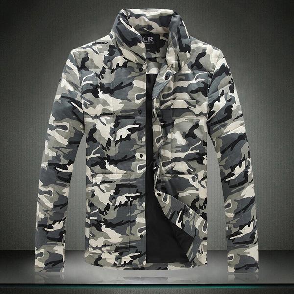 Камуфляжна куртка-пуховик