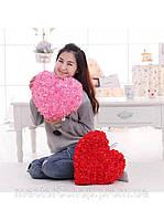Подушка сердце красная, подушка в виде сердца, подарки, сувениры