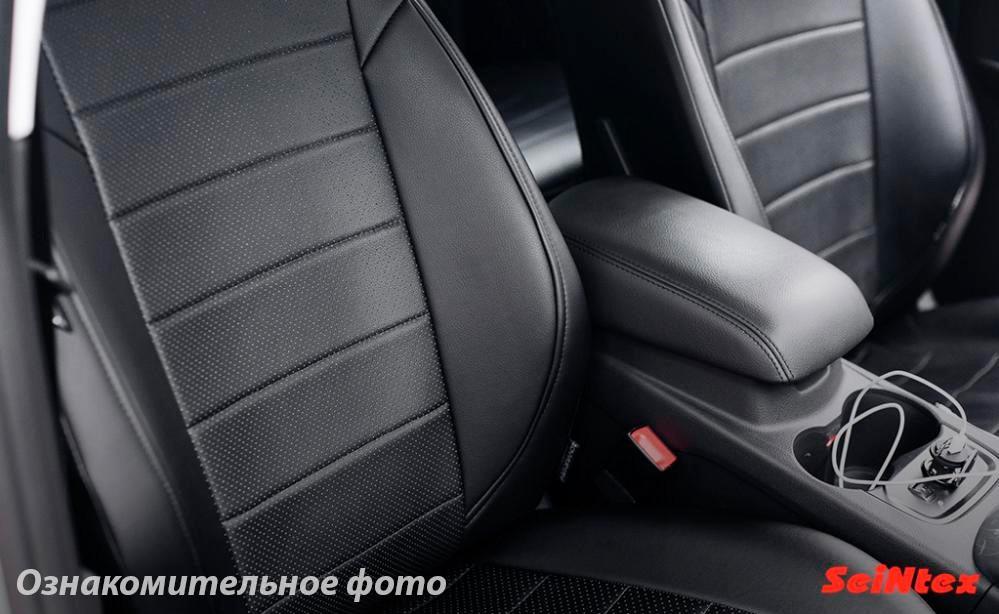 Чехлы салона Mitsubishi Lancer X SD 2007- (с задн.поддержк.) Эко-кожа /черные 86429