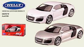 "Машина метал 44025CW ""WELLY"" 1:43 AUDI R8, 2 цвета, в кор. 13*6*5,5см"