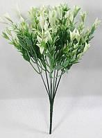 """Зелена з білим""""гіпсофіла ягідна"""" 34см кущ штучної зелені для декорування, фото 1"""