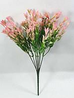 """Зеленая с розовым""""аквилегия"""" 27см куст искусственной зелени для декорирования, фото 1"""