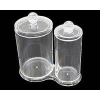 Емкость с крышкой для хранения ватных палочек и дисков SF-298