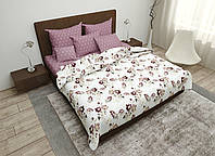 Двуспальный комплект постельного белья 180х220 Ранфорс_хлопок 100% (16089)