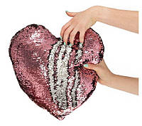 Подушка-подарок на день Святого Валентина, с пайетками серебряная, красная, с блестками в форме сердца
