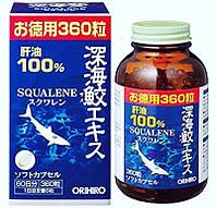 Акулий сквален Япония  Orihiro, 360 капсул на 60 дней применения