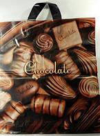 "Пакет с петлевой ручкой ср  ""Шоколад ""(40х40+3) 85мк (50 шт)"