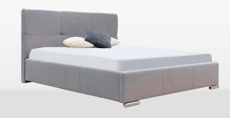 Кровать двуспальная с мягким изголовьем и без подъемного механизма  Lily MiroMark