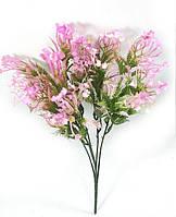 """Зеленая с розово-сиреневым""""сапонария"""" 31см куст искусственной зелени для декорирования, фото 1"""