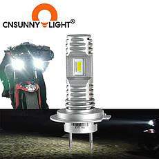 Автомобильные лампы LED Cnsunnylight H7 mini 10000LM 6000K, фото 2