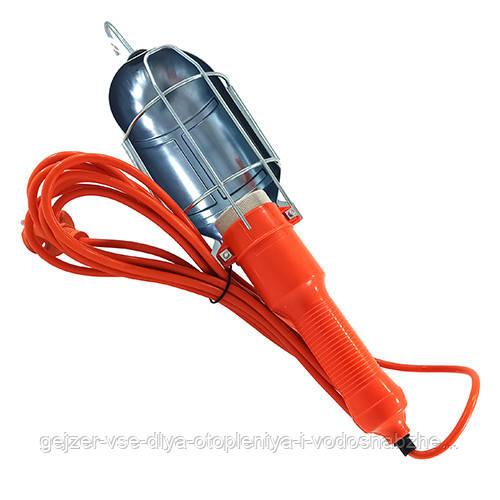 Переносной светильник с выключателем и крюком 15м Е27 металл