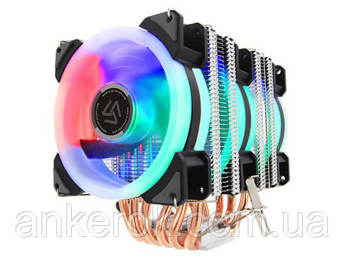 Активный кулер Alseye DR90 4-pin 6 Heat Pipes 3xFan Multicolored LED
