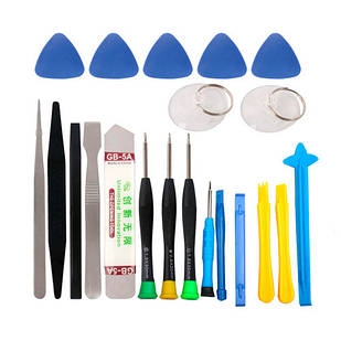 Набор инструментов для вскрытия корпусов разборки ремонта телефонов 21в1