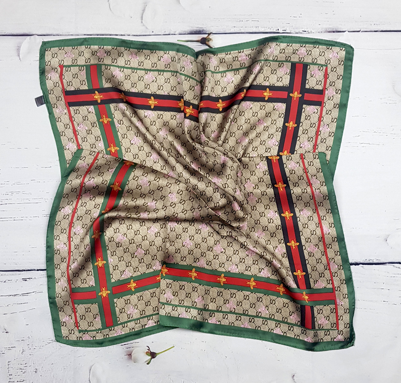 Платок женский на шею на сумку в прическу Клаудиа