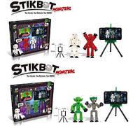 Набор для анимации Stikbot Monsters экран, 2 фигуры JM-03E/03F