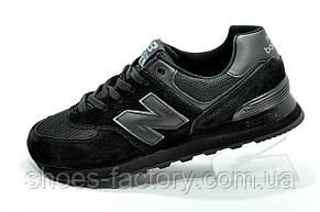 Кроссовки подростковые New Balance 574 на мальчика Черные, фото 2