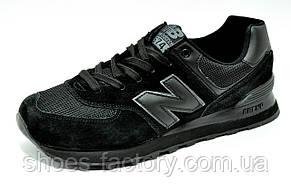 Кросівки підліткові New Balance 574 на хлопчика Чорні, фото 3