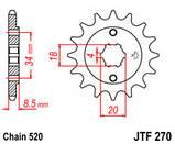 Звезда стальная передняя JT Sprockets JT JTF270.14, фото 2