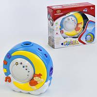 Ночник проектор детский музыкальный Goodway Луна с подсветкой и звуковыми эффектами (23007)