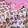 """Теплый плед на выписку или в кроватку, коляску """"Лесные истории"""" 75*95 см, розовый плюш, фото 2"""