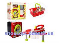 Детский набор бытовой техники: утюг, гладильная доска, стиральная машинка