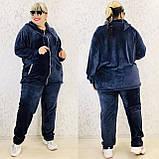 Спортивный костюм женский велюр высокого качества баталы, разные цвета, р.54/56, 58/60 полномерные Код 808Б, фото 3