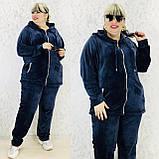 Спортивный костюм женский велюр высокого качества баталы, разные цвета, р.54/56, 58/60 полномерные Код 808Б, фото 4
