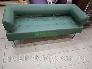 Диван для офиса Стронг (MebliSTRONG) - темно-зеленый цвет матовый