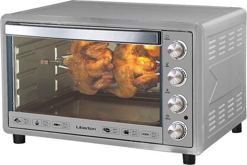 Электрическая печь LIBERTON LEO-651 Silver - 65 л, 2200 Вт