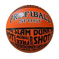 Мяч баскетбольный VA 0053 размер7, резина, 12панелей, 2цвета, 550-600г, в кульке