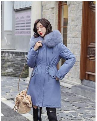 Женская куртка  парка с мехом на капюшоне меховая хлопковая подкладка р. 46