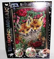 Алмазная живопись Diamond Mosaic Лисята DM-01-08