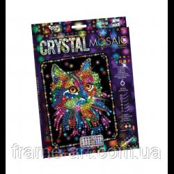 Набор Мозаика из кристаллов CRYSTAL MOSAIC Котик DT crmk-01-02