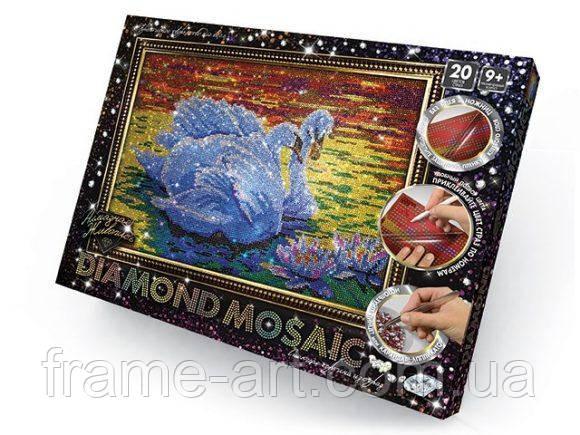 Алмазная живопись Diamond Mosaic Лебеди DM-01-02