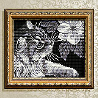 ArtSolo АТ5509 Кот с магнлией, набор в алмазной технике