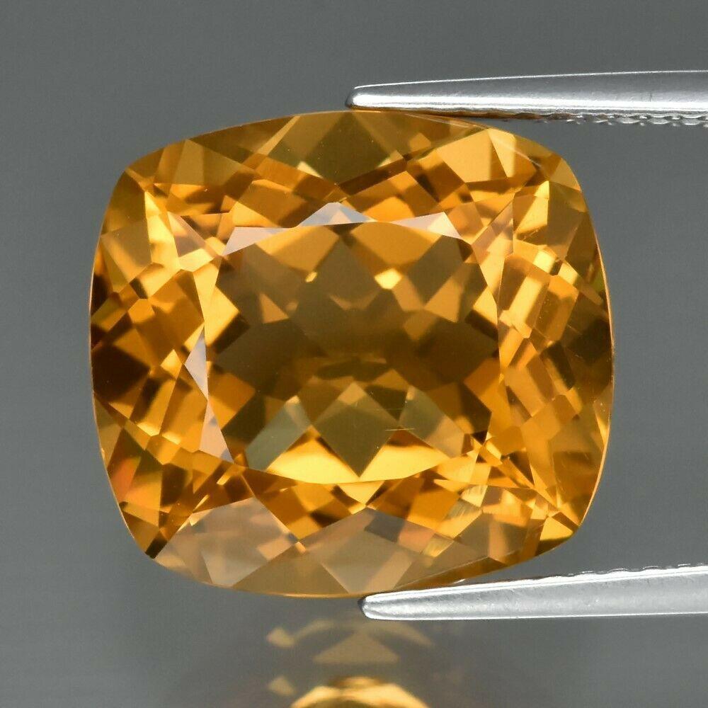 Натуральный  цитрин 9.02 ct   13.6x12.7mm