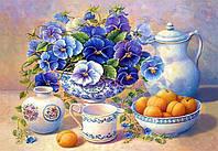 Алмазная вышивка DM-216 Цветы на столе 30*40см