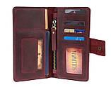 Кошелек женский кожаный под паспорт SULLIVAN kgb11(10) марсала, фото 5