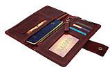 Кошелек женский кожаный под паспорт SULLIVAN kgb11(10) марсала, фото 6